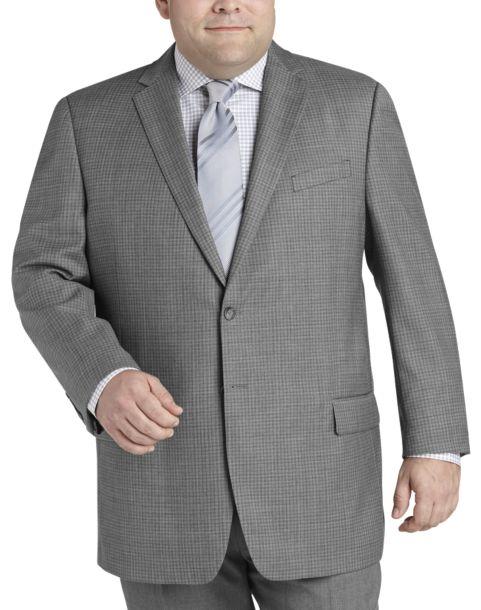 Pronto Uomo Platinum Portly Sport Coat, Charcoal Check - Men's ...