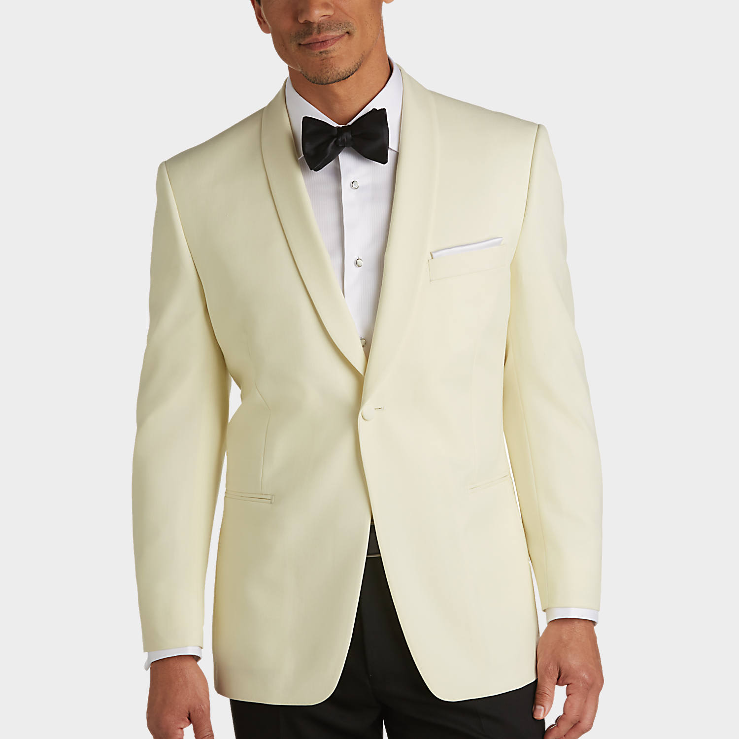 Pronto Uomo Cream Modern Fit Dinner Jacket - Men's Modern Fit ...