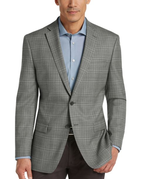 Calvin Klein Gray Plaid Slim Fit Sport Coat - Men's $639.99 Joseph ...