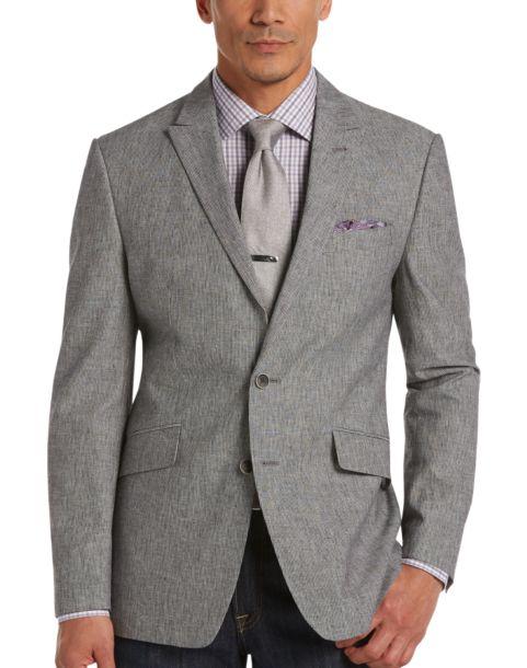 JOE Joseph Abboud Gray Stripe Slim Fit Sport Coat - Men's Slim Fit ...
