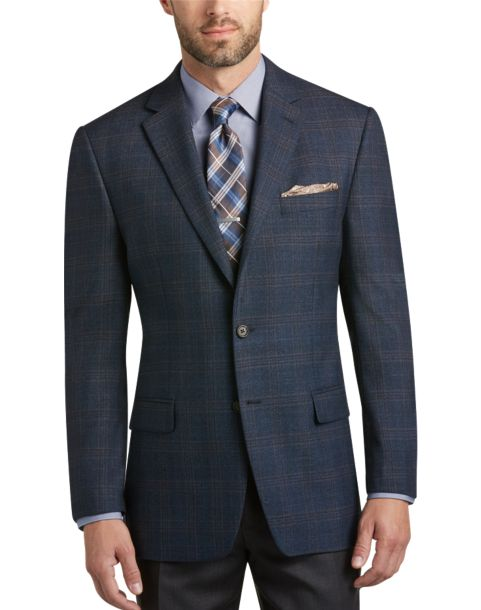 Blue Plaid Sport Coat - Men's Sport Coats - Lauren by Ralph Lauren ...