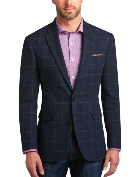 Tommy Hilfiger Blue Windowpane Slim Fit Sport Coat - Men's $639.99 ...