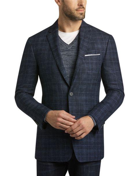 Blue Plaid Sport Coat - Men's Sport Coats - JOE by Joseph Abboud ...