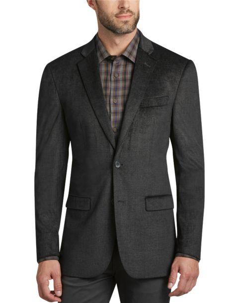 Pronto Uomo Platinum Modern Fit Velvet Sport Coat, Charcoal ...