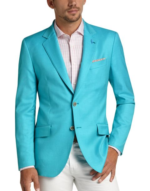 Tailorbyrd Teal Slim Fit Sport Coat - Men's Sport Coats   Men's ...