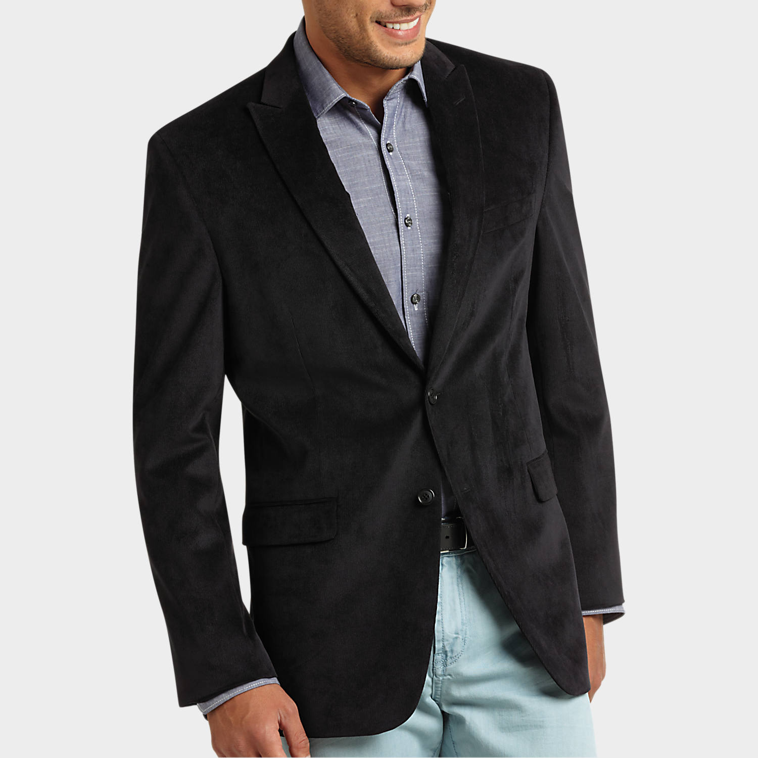 Calvin Klein Black Corduroy Slim Fit Sport Coat - Men's Sport ...