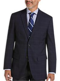 Pronto Uomo Platinum Modern Fit Sport Coat, Navy Plaid