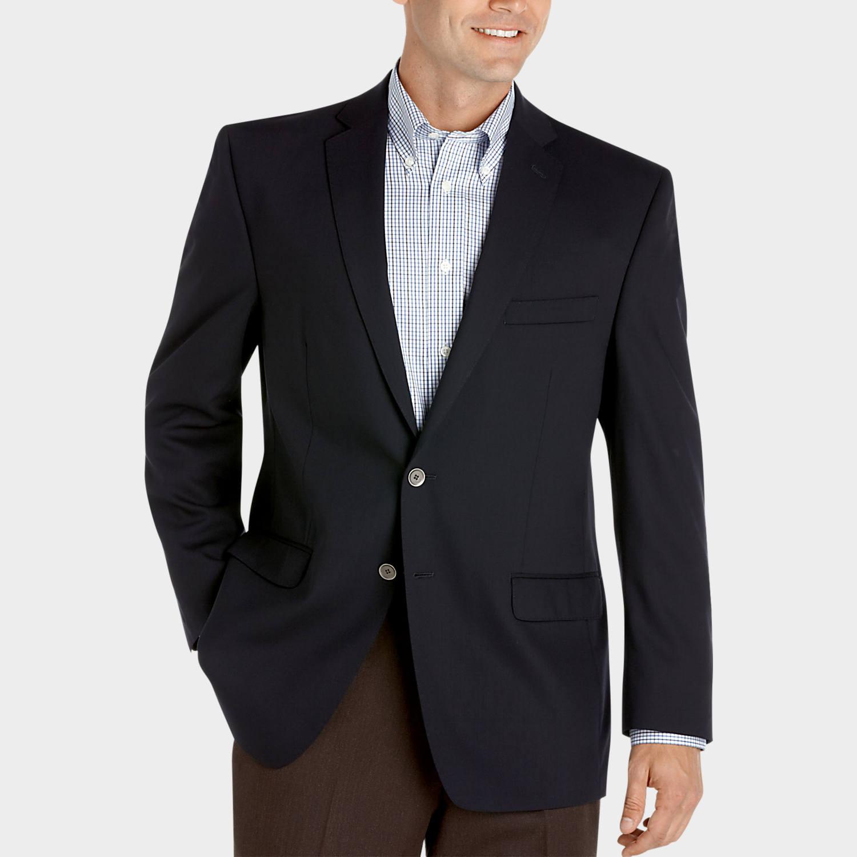 Calvin Klein Slim Fit Navy Blazer - Men's Blazers   Men's Wearhouse