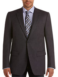 Pronto Uomo Couture Navy Check Portly Sport Coat - Men's Sport ...