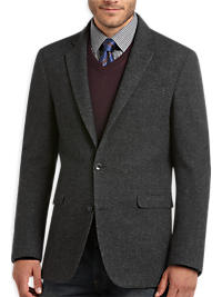Kenneth Cole Heather Charcoal Slim Fit Blazer