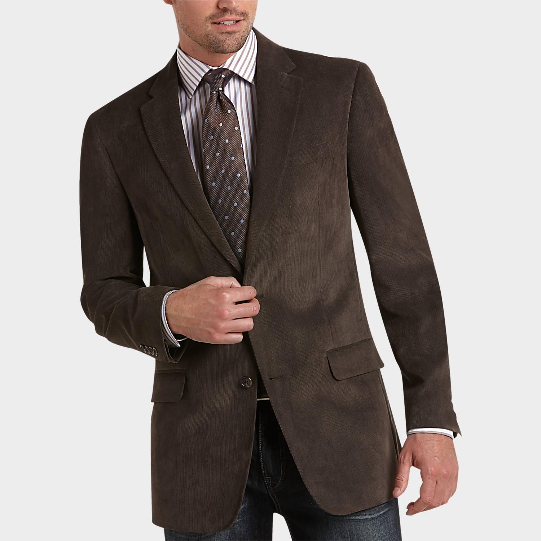 Pronto Uomo Platinum Portly Sport Coat, Brown - Men's Sport Coats ...