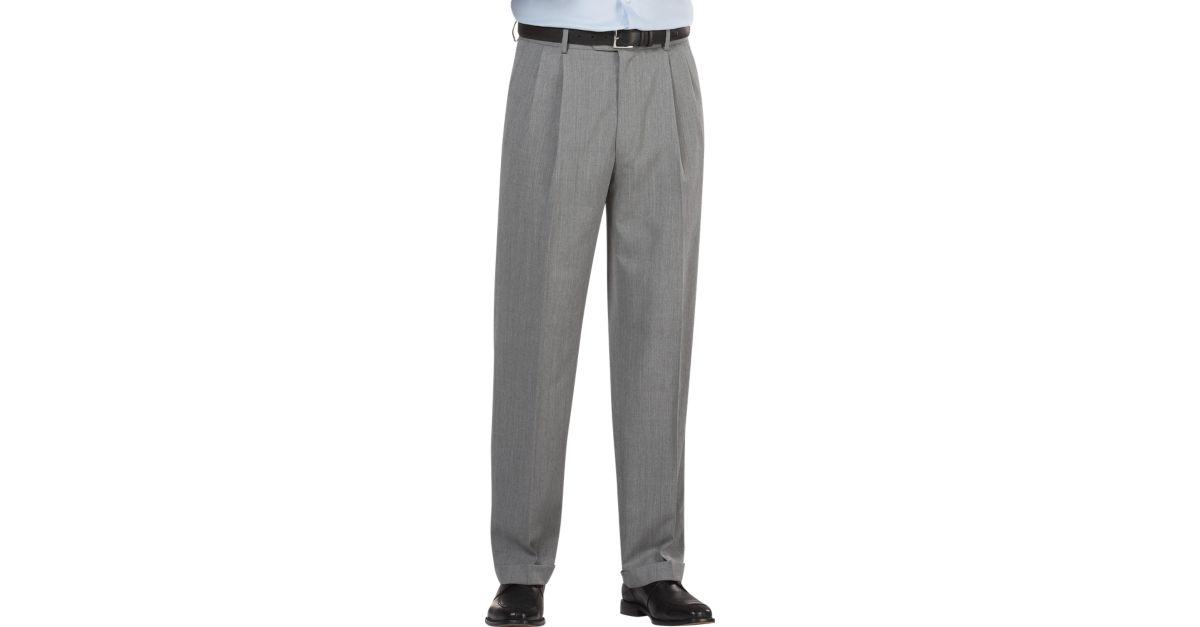 Grey suit pants hardon clothes for Joseph feiss non iron dress shirt