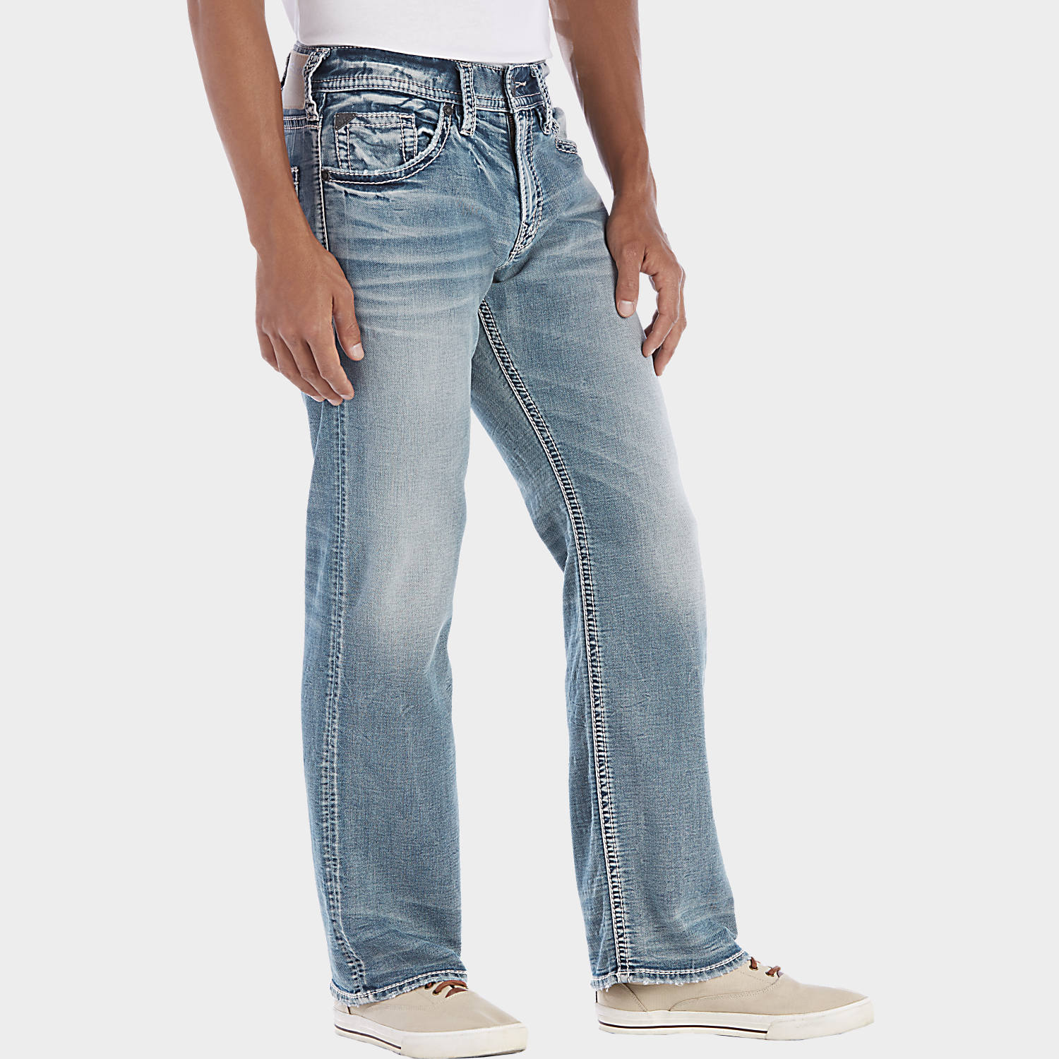 Silver Jeans Zac Light Wash Jeans - Men's Relaxed Fit | Men's ...