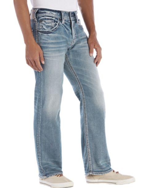 Silver Jeans Zac Light Wash Jeans - Men's Relaxed Fit | Men's ...