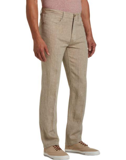1b952947be Joseph Abboud Tan Modern Fit Linen Pants - Mens Home - Men's Wearhouse