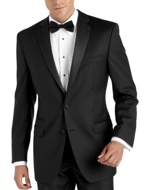 100 wool black slim fit tuxedo men 39 s tuxedos calvin for Tuxedo house
