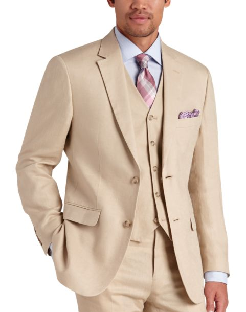 100% Linen Tan Suit Separates Coat - Men's Sport Coats - Pronto ...