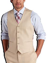 Pronto Uomo Platinum Modern Fit Suit Separate Vest, Tan