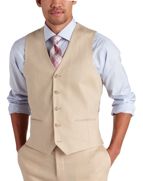Linen Pants And Vest For Beach Wedding
