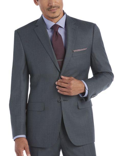 Awearness Kenneth Cole Slim Fit Suit (Blue Sharkskin)