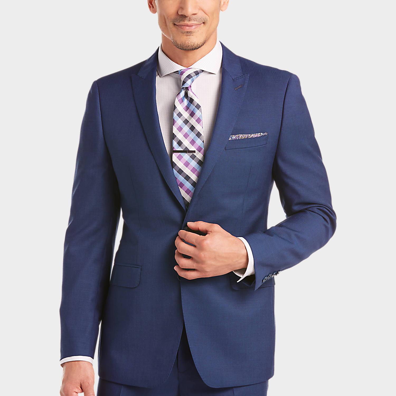 Pict j ferrar modern fit 1 - Mens Calvin Klein Suits Suits Calvin Klein Blue Extreme Slim Fit Suit Men S