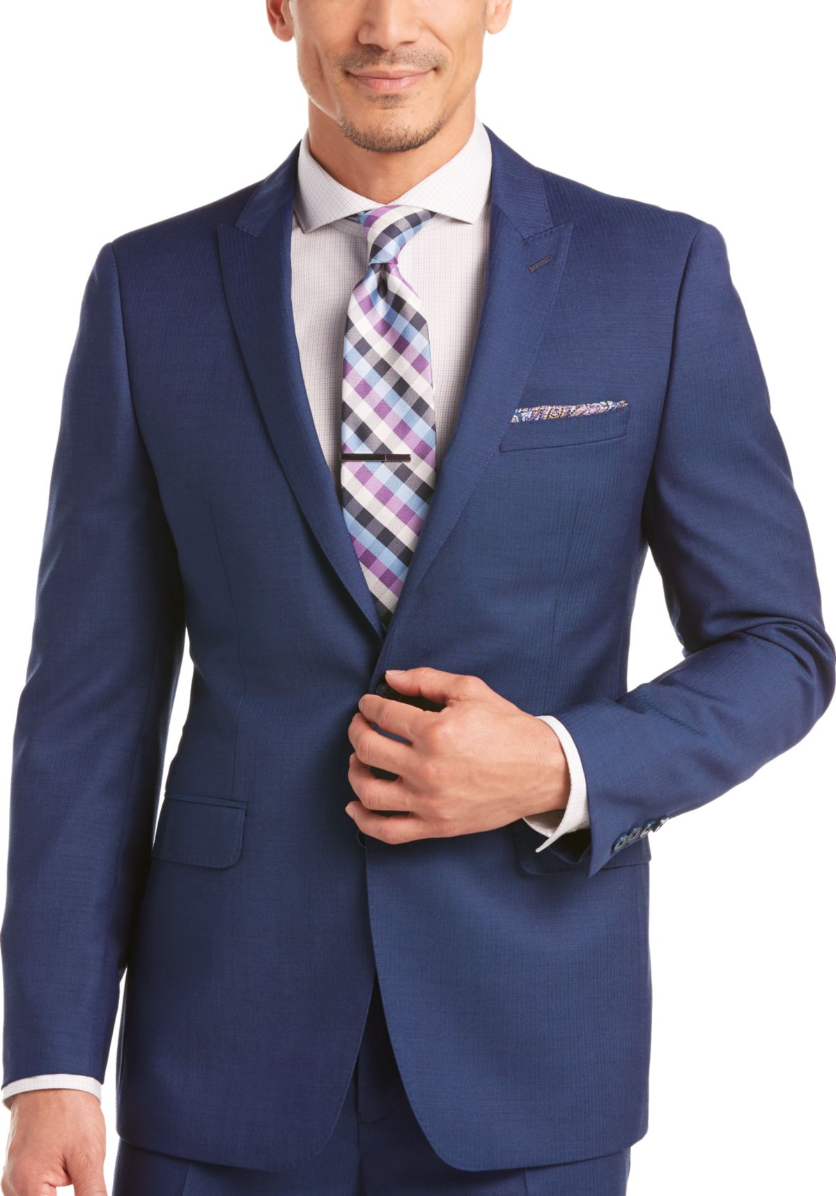 Calvin Klein Blue Extreme Slim Fit Suit - Men's Extreme Slim Fit ...