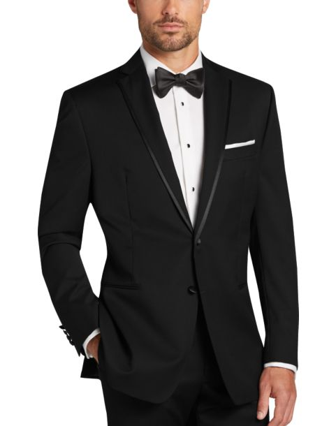 Calvin klein black slim fit tuxedo men 39 s tuxedos men 39 s for Tuxedo house