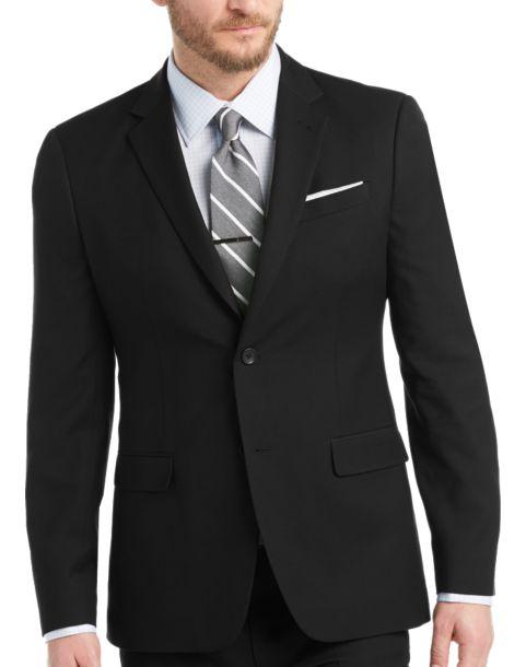 Egara Black Extreme Slim Fit Suit - Men's Extreme Slim Fit ...