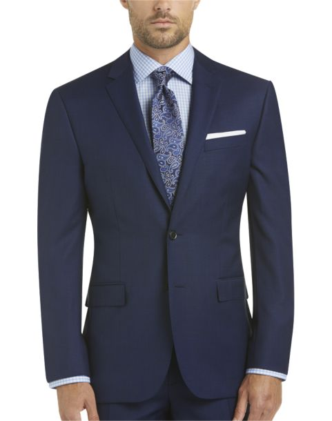 100% Wool Blue Slim Fit Suit - Men's Suits - JOE by Joseph Abboud ...