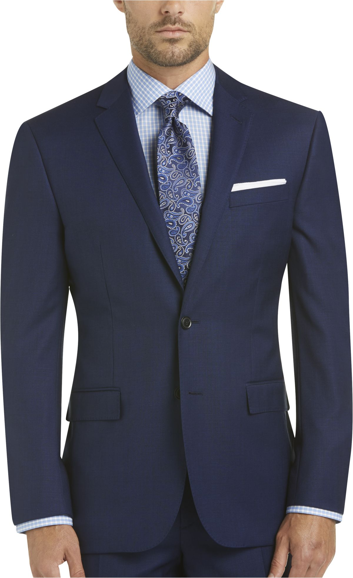 Blue Slim Fit Suit Men Blue Slim Fit Business Suit
