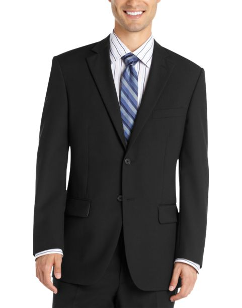Black Modern Fit Suit - Men's Suits - Wilke Rodriguez | Men's ...
