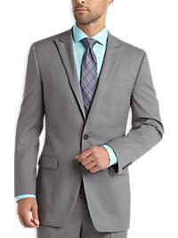 Calvin Klein Light Gray Slim Fit Suit