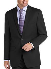 Calvin Klein Black Multistripe Slim Fit Suit