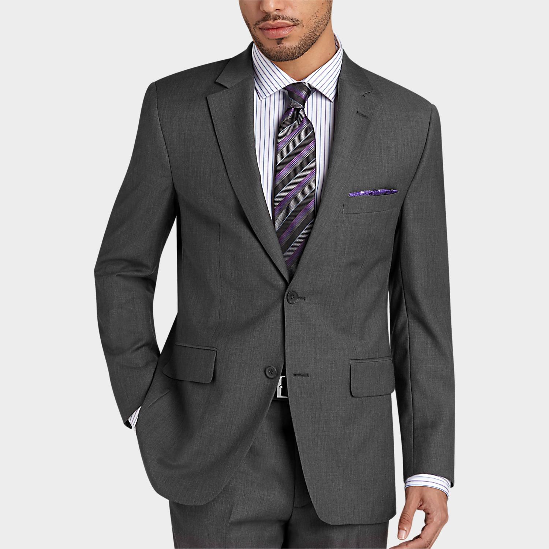 Gray Modern Fit Suit - Men's Suits - Pronto Uomo | Men's Wearhouse