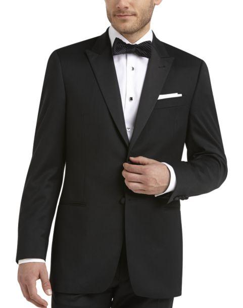 Black modern fit tuxedo men 39 s tuxedos joseph abboud for The tuxedo house