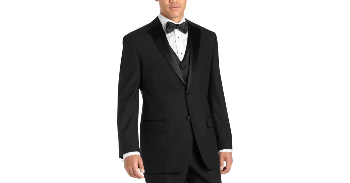 Black modern fit tuxedo men 39 s tuxedos wilke rodriguez for Tuxedo house