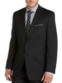Calvin Klein Black Tonal Stripe Slim Fit Suit