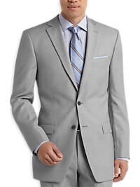 Calvin Klein Gray Sharkskin Slim Fit Suit