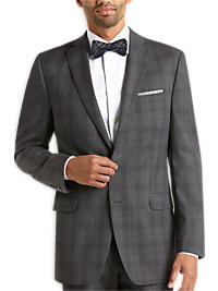 Calvin Klein Gray Tonal Plaid Slim Fit Suit