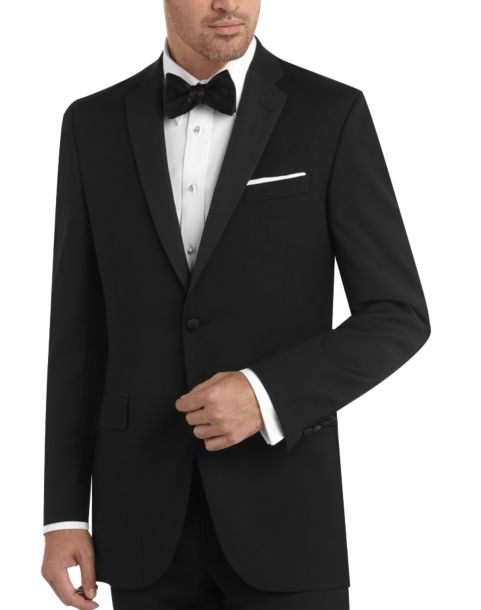 Black by vera wang black slim fit tuxedo men 39 s tuxedos for Tuxedo house