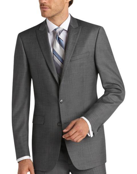 Calvin Klein Gray Sharkskin Extreme Slim Fit Suit Men S