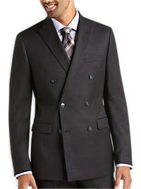 Calvin Klein Black Tic Double Breasted Extreme Slim Fit Suit