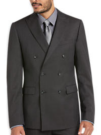 Calvin Klein Charcoal Check Double Breasted Extreme Slim Fit Suit