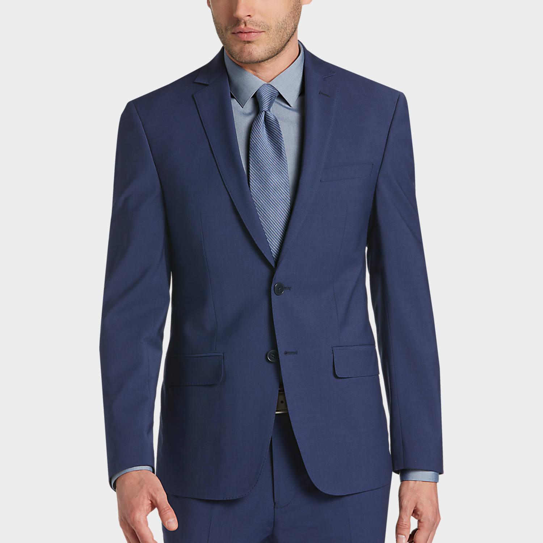 Pict j ferrar modern fit 1 - Mens Calvin Klein Suits Suits Calvin Klein Infinite Stretch Blue Skinny Fit Suit Extreme Slim Fit