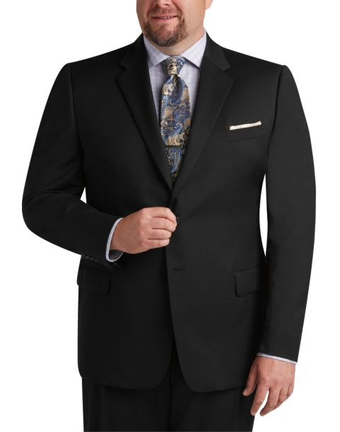 Joseph & Feiss Black Portly Fit Suit - Men's Portly   Men ...