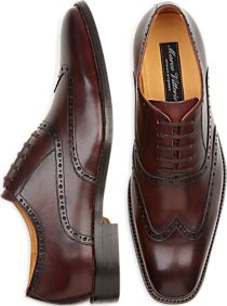 Marco Vittorio Monza Burgundy Wingtip Lace-Up Shoe