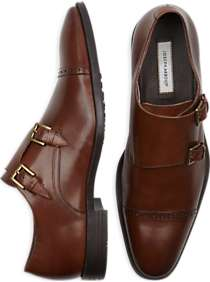 Joseph Abboud Foxfield Chestnut Double Monk Strap Shoes
