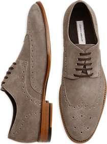 Joseph Abboud Wellington Gray Suede Wingtip Lace-Up Shoes
