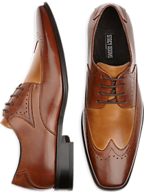 Stacy Adams Atticus Brown Wingtip Lace-Up Shoes