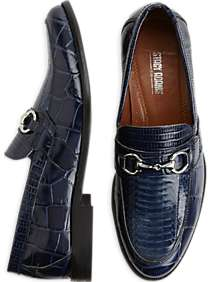 Stacy Adams Servino Cobalt Snake and Croc Loafers